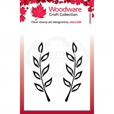 Woodware Clear Singles - Fiona Leaf Stamp
