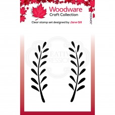 Woodware Clear Singles - Anya Leaf Stamp