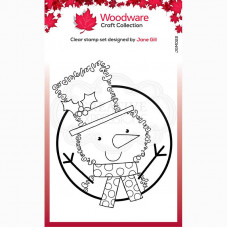 Woodware Clear Singles Festive Fuzzies - Mini Snowman Stamp