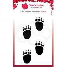 Woodware Clear Singles Festive Fuzzies - Mini Polar Bear Paws Stamp