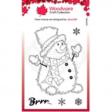 Woodware Clear Singles Festive Fuzzies - Snowman Stamp