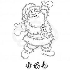 Woodware Clear Singles Festive Fuzzies - Santa Stamp