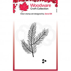 Woodware Clear Singles - Mini Pine Branch Stamp