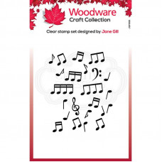 Woodware Clear Singles - Mini Music Background Stamp
