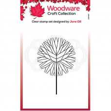 Woodware Clear Singles - Mini Round Twiggy Tree Stamp