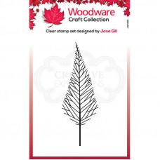 Woodware Clear Singles - Mini Tall Twiggy Tree Stamp
