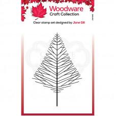 Woodware Clear Singles - Mini Wide Twiggy Tree Stamp