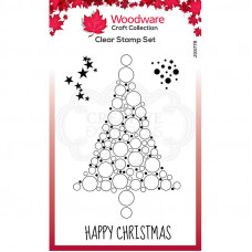 Woodware Clear Singles - Bubble Spruce Stamp