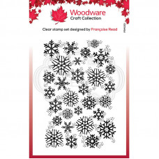 Woodware Clear Singles - Snowflake Flurry Stamp