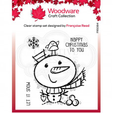 Woodware Clear Singles - Little Snowman Stamp