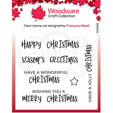 Woodware Clear Singles - Useful Christmas Stamp