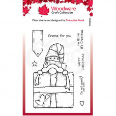 Woodware Clear Singles - Gnome Gift Stamp