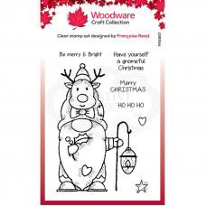 Woodware Clear Singles - Reindeer Gnome Stamp