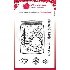 Woodware Clear Singles - Snow Jar Stamp
