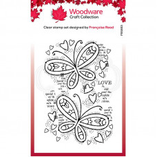 Woodware Clear Singles Stamp - Butterfly Confetti