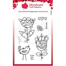 Woodware Clear Singles - Blooming Stamp