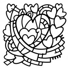 Woodware Stencil - Heart Window