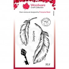 Woodware Clear Stamp Set - Two Feathers