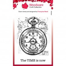 Woodware Clear Stamp - Pocket Watch