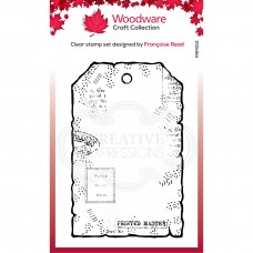 Woodware Clear Stamp - Small Paper Tag