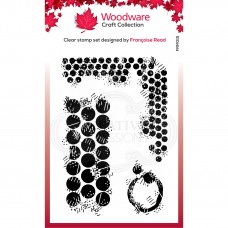 Woodware Clear Stamp Set - Grungy Dots