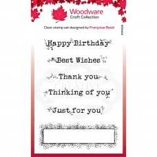 Woodware Clear Stamp Set - Boxed Greetings