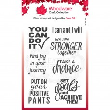 Woodware Clear Stamp Set - You Can Do It!