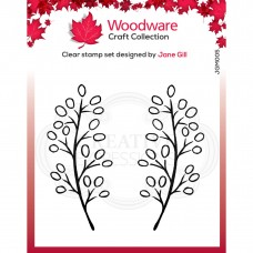 Woodware Clear Stamp Set - Carla Leaf