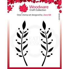 Woodware Clear Stamp Set - Dorothy Leaf