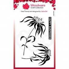 Woodware Clear Stamp Set - Umbrella Grass