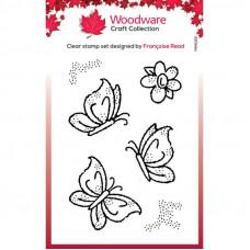 Woodware Clear Singles - Little Butterflies Stamp