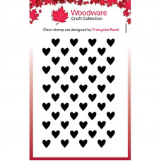 Woodware Clear Singles - Mini Heart Background Stamp