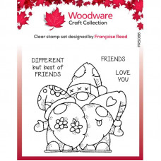 Woodware Clear Singles - Gnome Friends Stamp