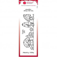 Woodware Clear Singles - Mushy Friends Stamp