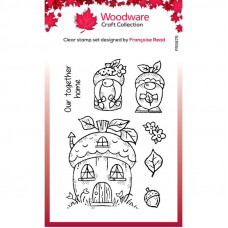 Woodware Clear Singles - Acorn Gnomes Stamp