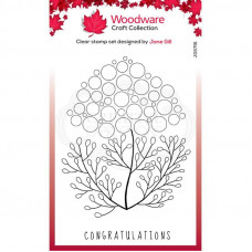 Woodware Clear Singles - Bubble Bloom Carrie Stamp