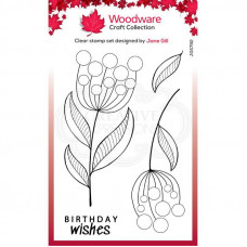 Woodware Clear Singles - Bubble Bloom Jeanie Stamp