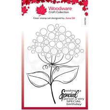Woodware Clear Singles - Bubble Bloom Suzie Stamp