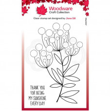 Woodware Clear Singles - Bubble Bloom Trinny Stamp