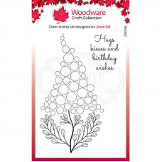 Woodware Clear Singles - Bubble Bloom Betty Stamp