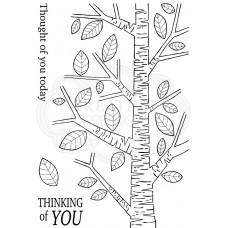Woodware Clear Singles - Silver Birch Tree