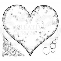Woodware Clear Singles - Torn Paper Heart