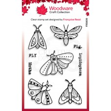 Woodware Clear Singles Stamp - Moths