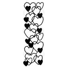 Woodware Stencil - Heart Mesh