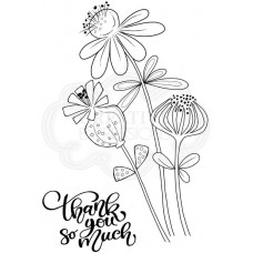 Woodware Clear Singles - Thank You Flowers