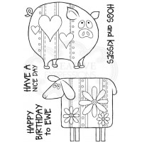 Woodware Clear Singles - Ewe and Piggy