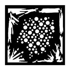 """Woodware 6"""" x 6"""" Stencil - Grunge"""