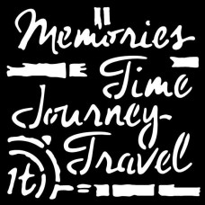 "Woodware 6"" x 6"" Stencil - Time Travel - DISPATCHING WEDNESDAY 23rd JANUARY"