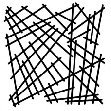 Woodware 6 x 6 Stencil - Broken Mesh