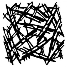 Woodware 6 x 6 Stencil - Scratched